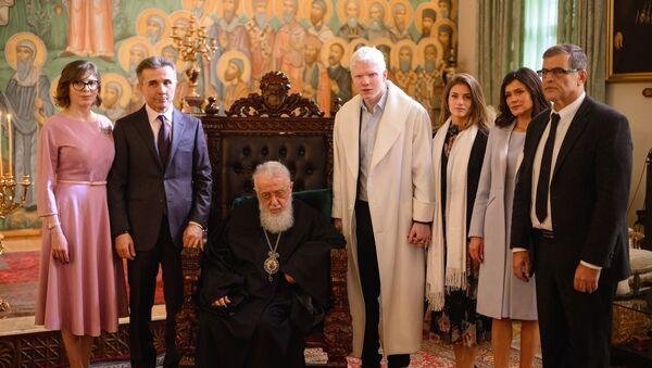 ილია მეორე და ბიძინა ივანიშვილი ოჯახთან ერთად - Sputnik საქართველო