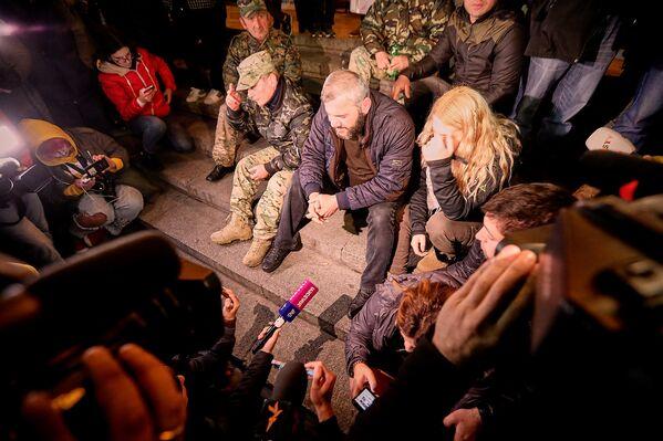 Акции протеста Саралидзе начал проводить с 31 мая, с тех пор как Тбилисский городской суд вынес решение по делу об убийстве его сына Давида и еще одного подростка Левана Дадунашвили - Sputnik Грузия