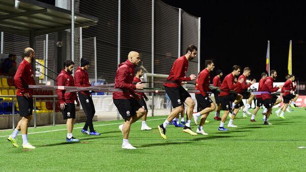 Сборная Грузии по футболу готовится к матчу против команды Андорр - Sputnik Грузия
