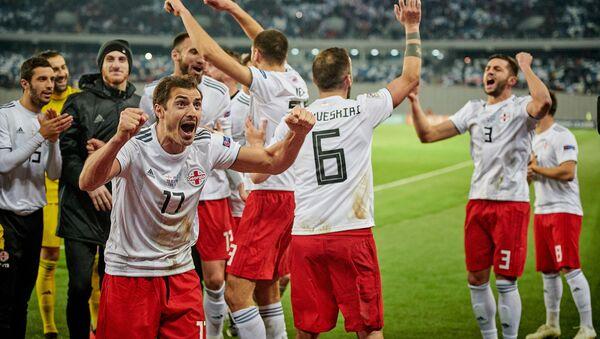 Матч между сборными Грузии и Казахстана по футболу в рамках Лиги наций УЕФА  - Sputnik Грузия