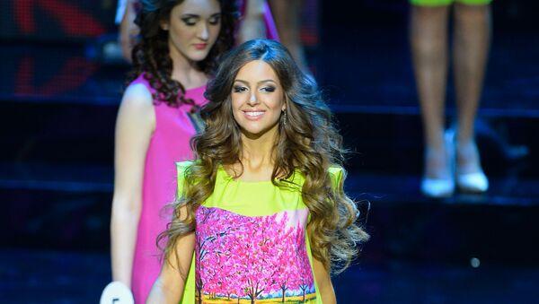 Конкурсантка Оксана Воеводина на конкурсе красоты Мисс Москва 2015 - Sputnik Грузия