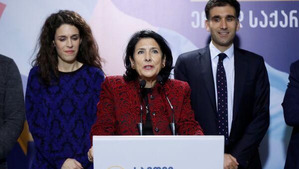 Саломе Зурабишвили на пресс-конференции - Sputnik Грузия