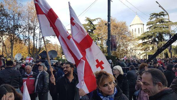 Акция протеста на простепкте Руставели - Sputnik Грузия