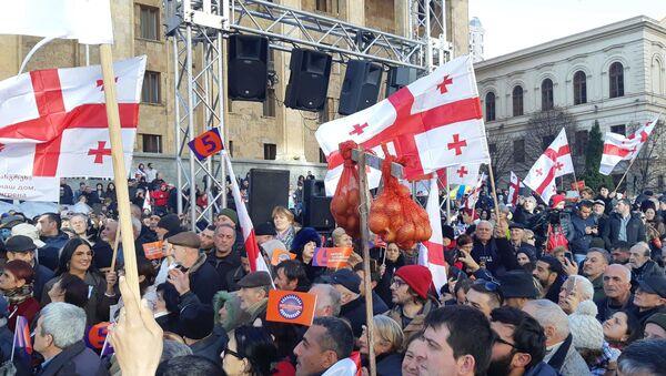 Акция протеста на проспекте Руставели - Sputnik Грузия