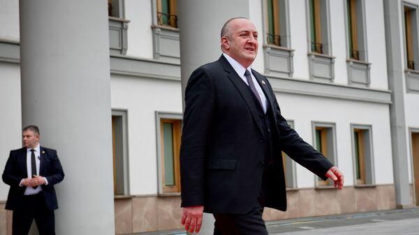Георгий Маргвелашвили в президентском дворце - Sputnik Грузия