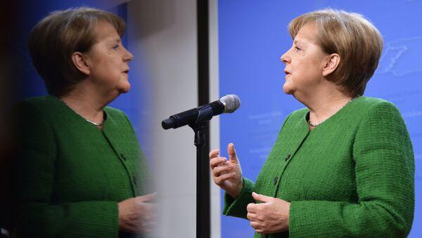 Канцлер Германии Ангела Меркель во время саммита ЕС в Брюсселе - Sputnik Грузия