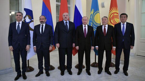 Главы делегаций государств-членов Высшего Евразийского экономического совета - Sputnik Грузия