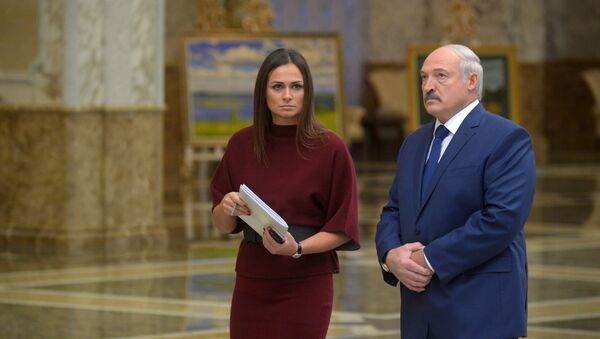 Александр Лукашенко и Наталья Эйсмонт - Sputnik Грузия