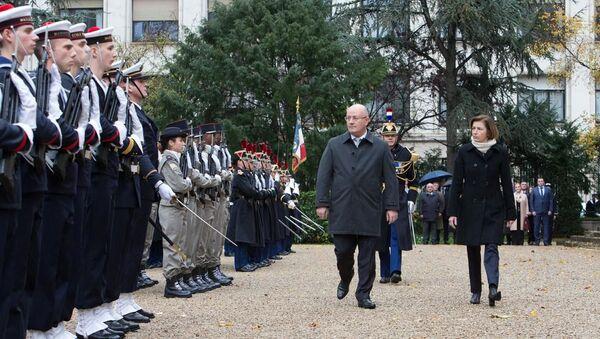 საქართველოს და საფრანგეთის თავდაცვის მინისტრები ლევან იზორია და ფლორანს პარლი - Sputnik საქართველო