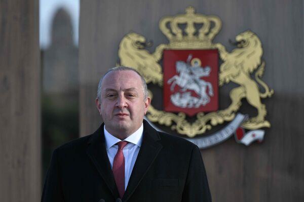 Церемонию инаугурации открыл уходящий президент Грузии Георгий Маргвелашвили   - Sputnik Грузия