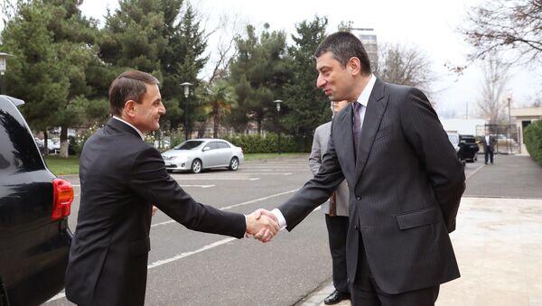 Начальник полиции Армении Валерий Осипян и глава МВД Грузии Георгий Гахария - Sputnik Грузия