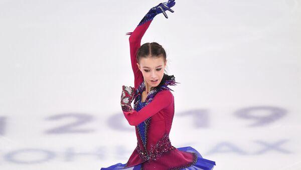 Анна Щербакова на чемпионате России по фигурному катанию в Саранске - Sputnik Грузия