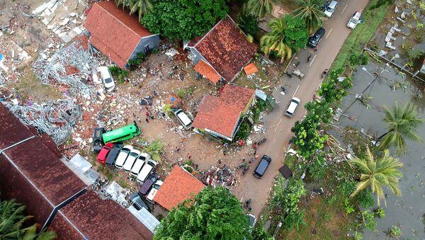Разрушенные дома в результате цунами в Индонезии  - Sputnik Грузия