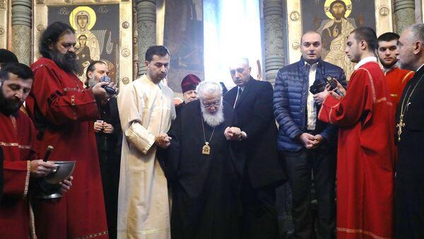 Католикос-Патриарх всея Грузии Илия II и премьер Грузии Мамука Бахтадзе  - Sputnik Грузия