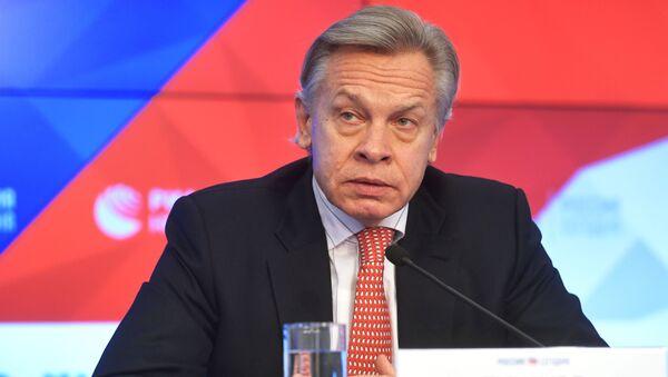 Председатель комиссии Совета Федерации РФ по информационной политике Алексей Пушков - Sputnik Грузия