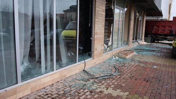 Взрыв газа в жилом доме в районе Диди Дигоми. Здание, где произошел взрыв - Sputnik Грузия