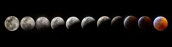 Съемка фаз лунного затмения в США  - Sputnik Грузия
