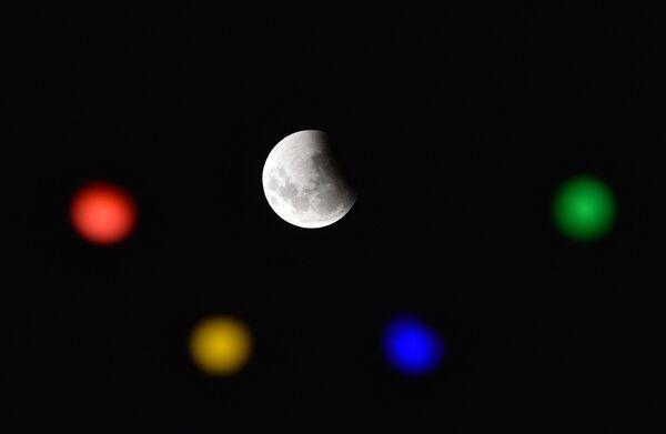 Полное лунное затмение в Уругвае над Монтевидео - Sputnik Грузия