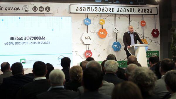 Премьер-министр Грузии Мамука Бахтадзе в ходе выступления - Sputnik Грузия