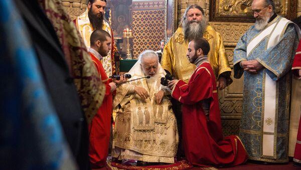 Илия II благословил ветеранов афганской войны - Sputnik Грузия