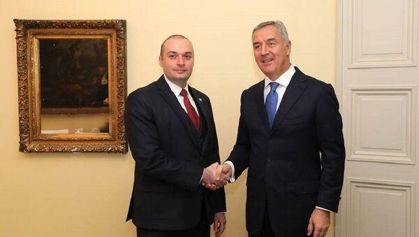 Мамука Бахтадзе и президент Черногории Мило Джуканович - Sputnik Грузия