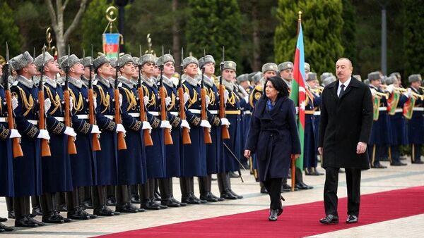 პრეზიდენტები სალომე ზურაბიშვილი და ილჰამ ალიევი - Sputnik საქართველო
