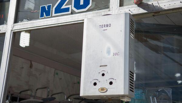 Газовые обогреватели на строительном рынке Элиава - Sputnik Грузия