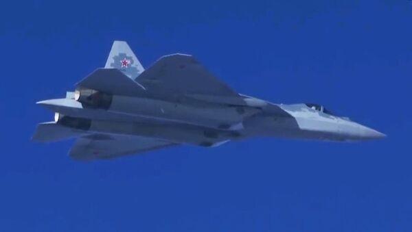 Полеты новейших истребителей Су-57 в Сирии - Sputnik Грузия