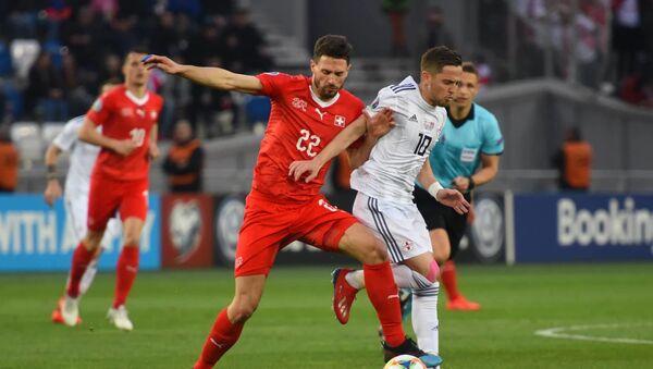 Матч между сборными Грузии и Швейцарии по футболу - Sputnik Грузия