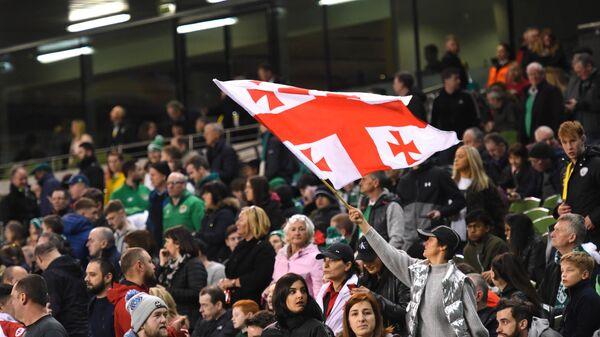 Болельщики во время матча между сборными Грузии и Ирландии по футболу - Sputnik Грузия