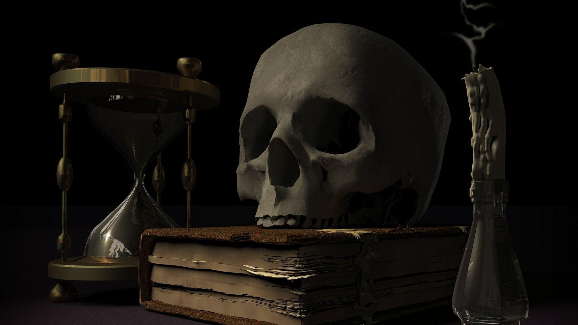 თავის ქალა, ქვიშის საათი და მისტიკური წიგნები  - Sputnik საქართველო, 1920, 27.08.2021
