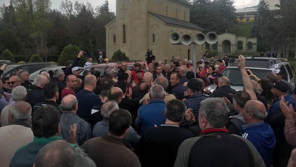 Акция протеста таксистов - Sputnik Грузия