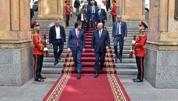 Председатель парламента Грузии Ираклий Кобахидзе и президент сената Иордании Фейсал аль-Файез - Sputnik Грузия