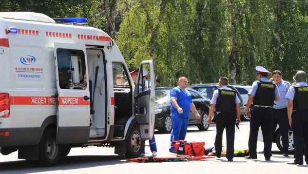 სასწრაფო და პოლიცია ალმათში - Sputnik საქართველო