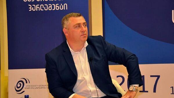 Председатель Нового профсоюза железнодорожников Грузии Виталий Гиоргадзе - Sputnik Грузия