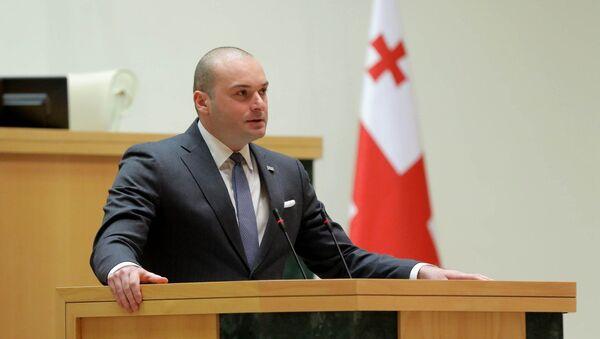 Премьер Грузии Мамука Бахтадзе выступает в парламенте страны - Sputnik Грузия