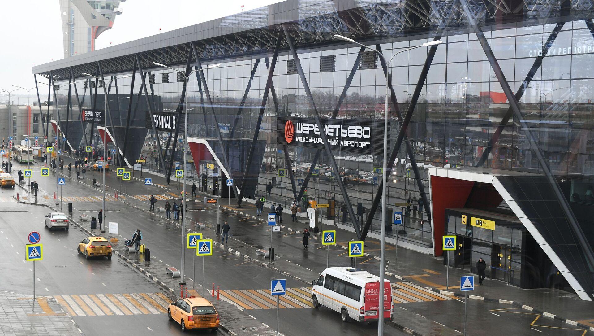 Вида на терминал B международного аэропорта Шереметьево в Москве - Sputnik Грузия, 1920, 02.06.2021