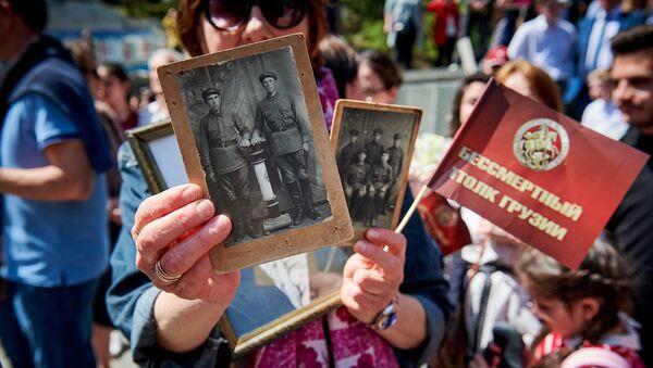 Акция памяти Бессмертный полк в День Победы над фашизмом 9 Мая в столице Грузии - Sputnik Грузия