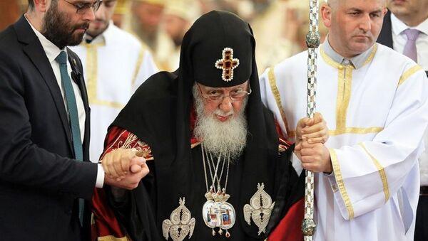 Католикос-Патриарх всея Грузии Илия II на церемонии освящения храма Чудотворной Иверской иконы Божьей Матери - Sputnik Грузия