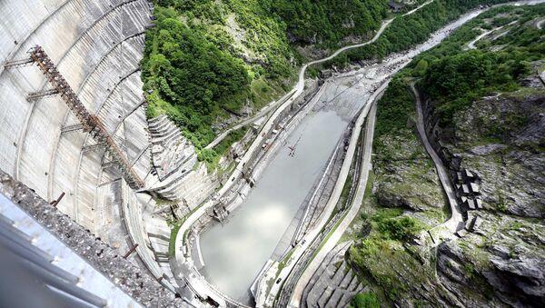 Вид с плотины Ингури ГЭС - Sputnik Грузия