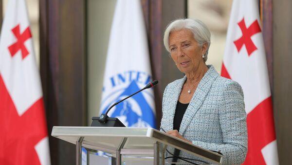 Директор-распорядитель Международного валютного фонда Кристин Лагард в Тбилиси - Sputnik Грузия