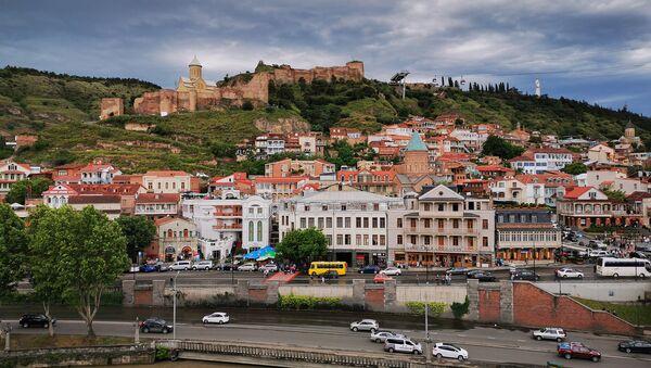Вид на город Тбилиси. Исторический центр. Мейдан, Кала Убани и Нарикала - Sputnik Грузия