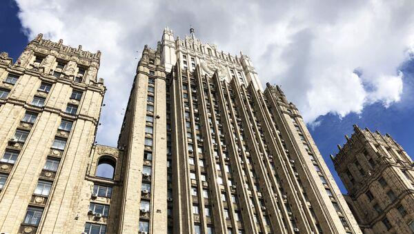 Здание министерства иностранных дел РФ на Смоленской-Сенной площади в Москве - Sputnik Грузия