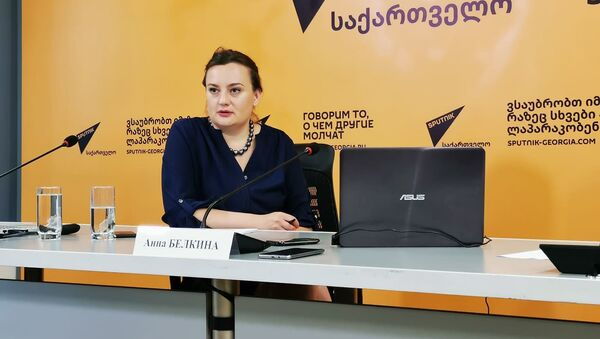 Заместитель главного редактора RT Анна Белкина на проекте SputnikPro - Sputnik Грузия