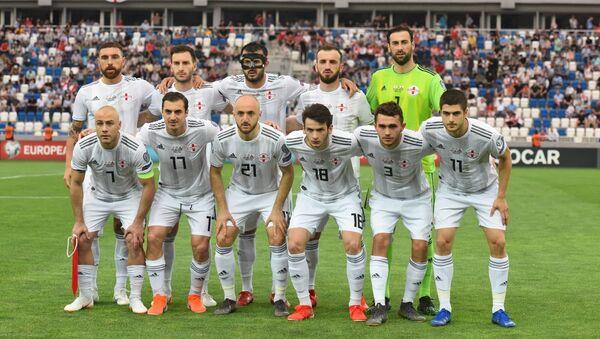Сборная Грузии по футболу перед матчем с Гибралтаром - Sputnik Грузия