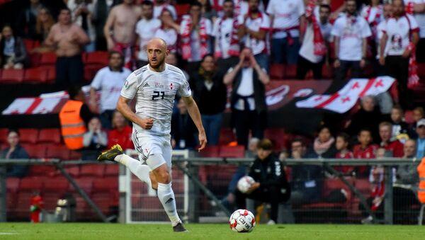 Сборная Грузии по футболу во время матча с командой Дании - Sputnik Грузия