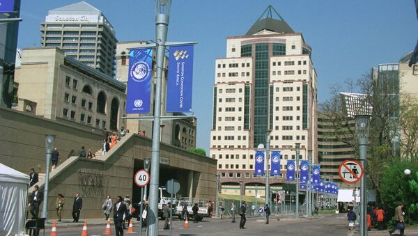 На одной из улиц Йоханесбурга - одного из самых крупных городов Южно-Африканской Республики. - Sputnik Грузия