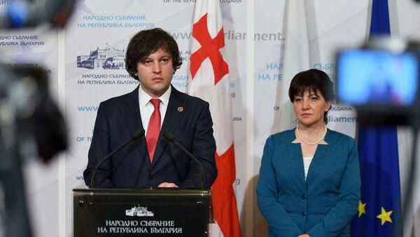 Главы парламентов Грузии и Болгарии Ираклий Кобахидзе и Цвета Караянчева - Sputnik Грузия