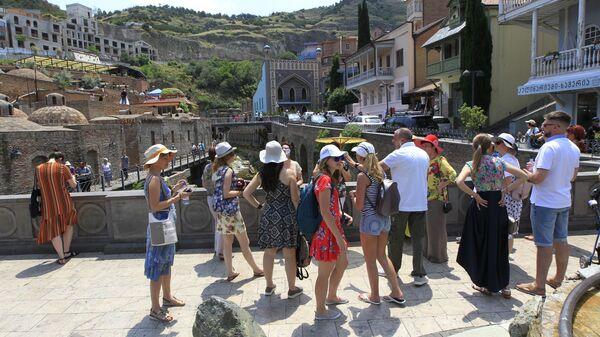 ტურისტები თბილისში - Sputnik საქართველო