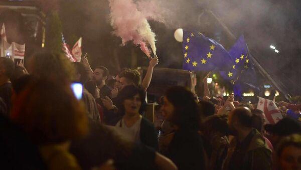 Акция протеста у парламента Грузии. Десятый день - Sputnik Грузия